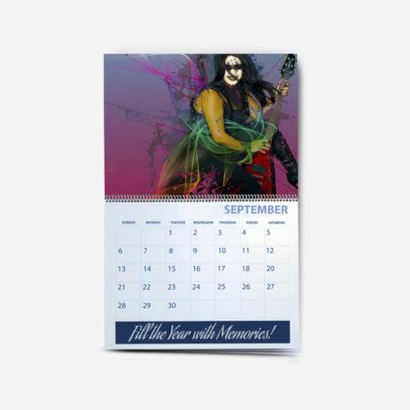 11x8.5 26 Page Wall Calendar w/Spiral Binding