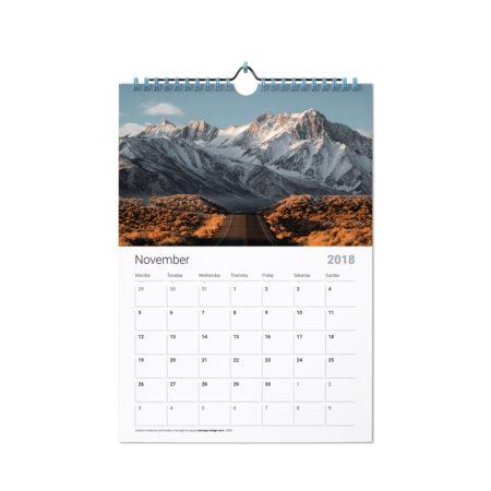 11x8.5 38 Page Wall Calendar w/Spiral Binding
