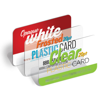 Clear Plastic 20pt Business Cards with Round Corners 4/0