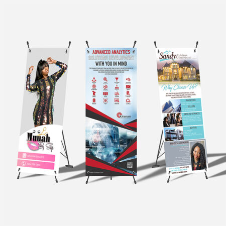Full Color Banner with X-Style Collapsible Stand